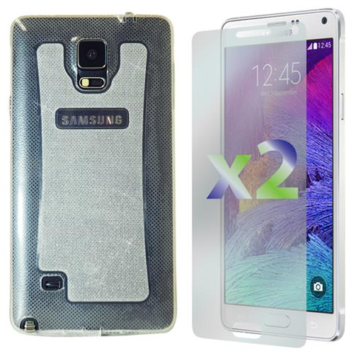 Exian Samsung Galaxy Note 4 TPU Case Sparkling Transparent Clear