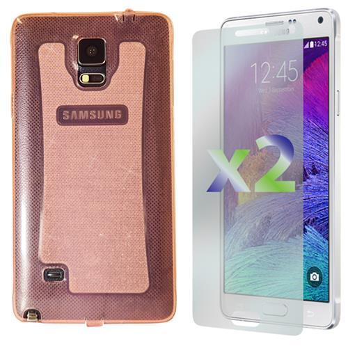 Exian Samsung Galaxy Note 4 TPU Case Sparkling Transparent Pink
