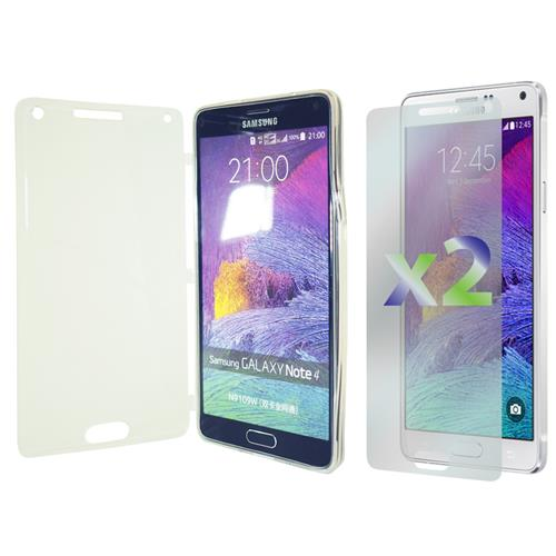 Exian Samsung Galaxy Note 4 TPU Case with Front Cover Transparent Clear