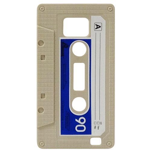 Exian Samsung Galaxy S2 Silicone Case Cassette Tape Beige