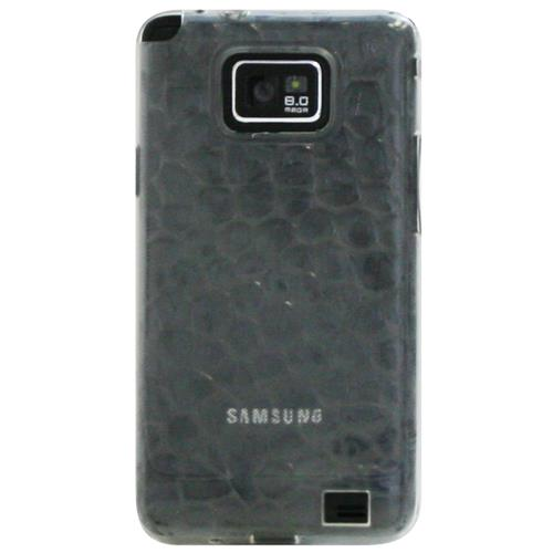 Exian Samsung Galaxy S2 Silicone Case Bubble Pattern Transparent Clear