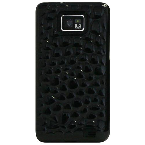 Exian Samsung Galaxy S2 Silicone Case Bubble Pattern Transparent Grey