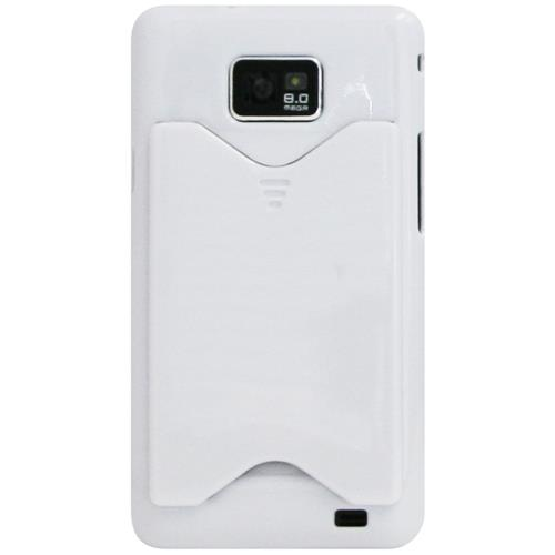 Exian Samsung Galaxy S2 Hard Plastic Case with Card Slot White