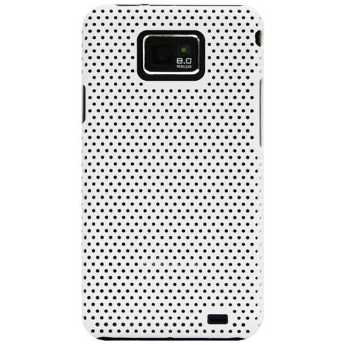 Exian Samsung Galaxy S2 Soft Plastic Case Net Pattern White