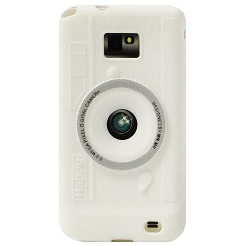 Exian Samsung Galaxy S2 Silicone Case Camera Design White