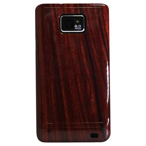Exian Samsung Galaxy S2 Hard Plastic Case Exian Design Wood Pattern Brown