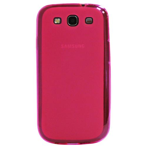 Exian Samsung Galaxy S3 Silicone Case Frosted Transparent Pink
