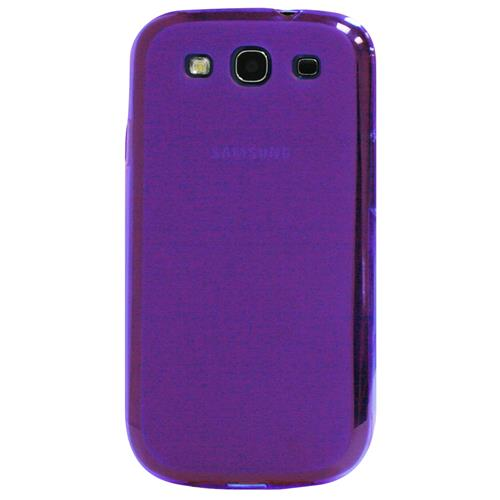 Exian Samsung Galaxy S3 Silicone Case Frosted Transparent Purple