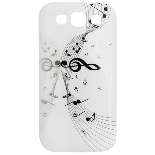 Exian Samsung Galaxy S3 TPU Case Exian Design Musical Notes White