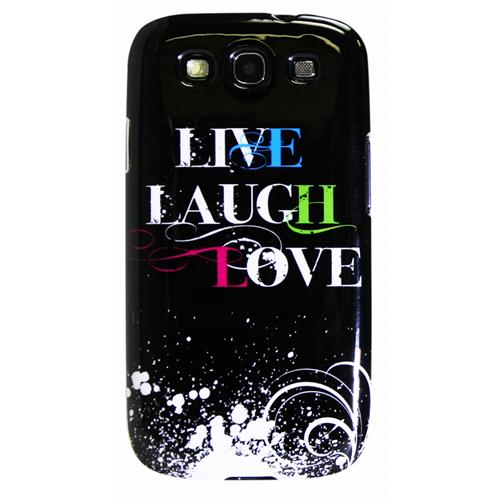 Exian Samsung Galaxy S3 TPU Case Exian Design Live/Laugh/Love(2) Black