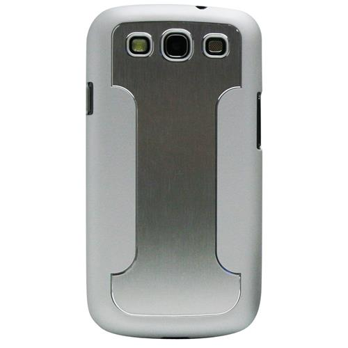 Exian Fitted Hard Shell Case for Samsung Galaxy S3 - Silver