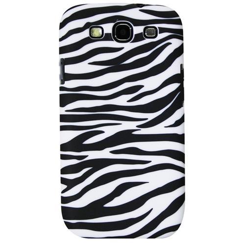 Exian Samsung Galaxy S3 Hard Plastic Case Zebra Pattern