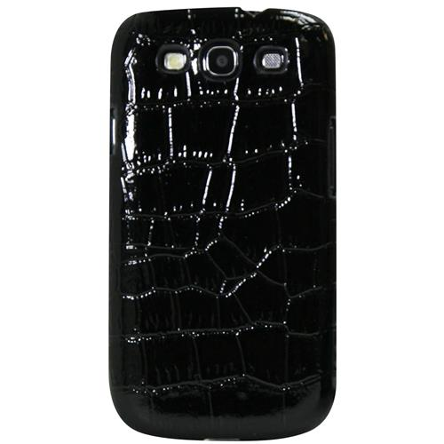 Exian Fitted Hard Shell Case for Samsung Galaxy S3 - Black