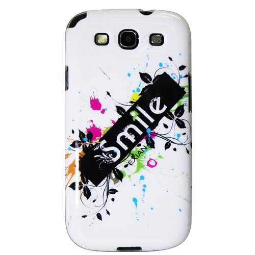 Exian Samsung Galaxy S3 TPU Case Exian Design Smile on White