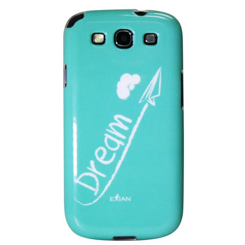 Exian Samsung Galaxy S3 TPU Case Exian Design Dream on Teal