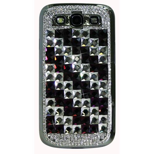 Exian Fitted Hard Shell Case for Samsung Galaxy S3 - Purple/Silver