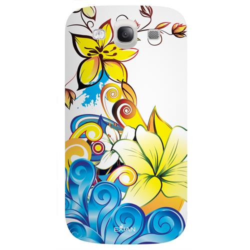 Exian Fitted Soft Shell Case for Samsung Galaxy S3 - Yellow/Blue