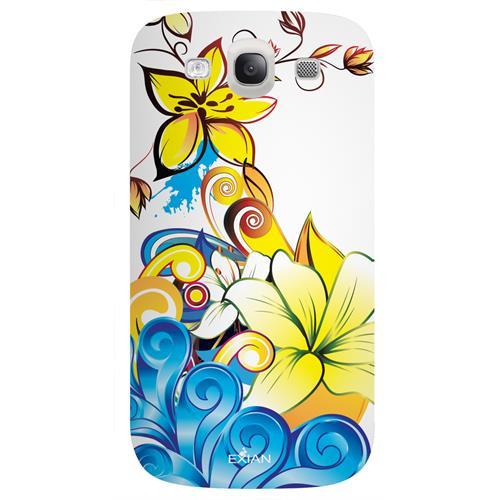 Exian Samsung Galaxy S3 TPU Case Exian Design CCS Floral Pattern
