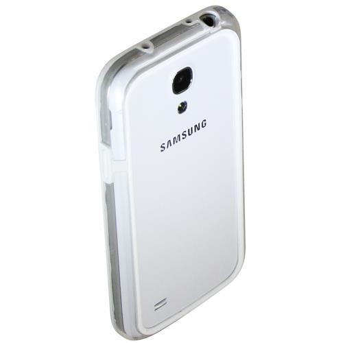 Exian Samsung Galaxy S4 Mini Silicone Bumper Case White