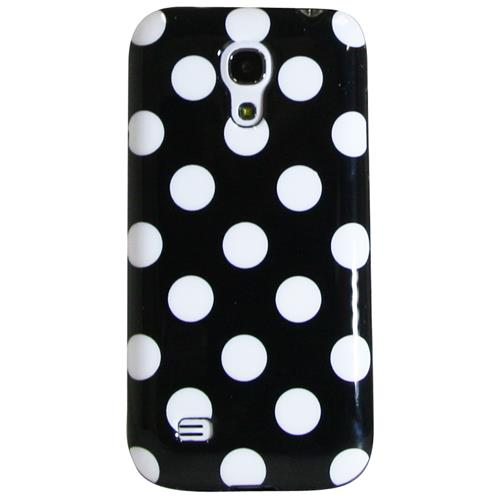 Exian Samsung Galaxy S4 Mini TPU Case Polka Dots Black