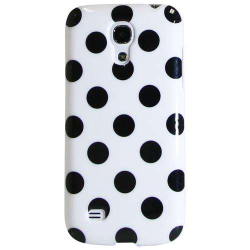 Exian Samsung Galaxy S4 Mini TPU Case Polka Dots White