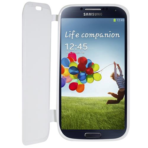 Exian Samsung Galaxy S4 TPU Case with Front Cover White