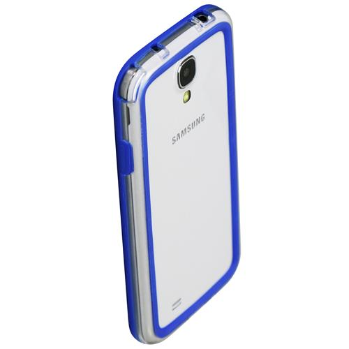 Exian Fitted Soft Shell Case for Samsung Galaxy S4 - Blue