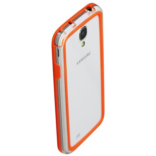 Exian Samsung Galaxy S4 Silicone Bumper Case Orange