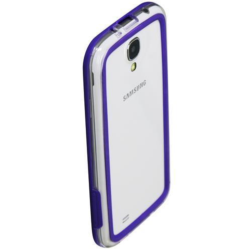 Exian Samsung Galaxy S4 Silicone Bumper Case Purple