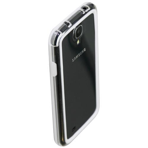 Exian Samsung Galaxy S4 Silicone Bumper Case White