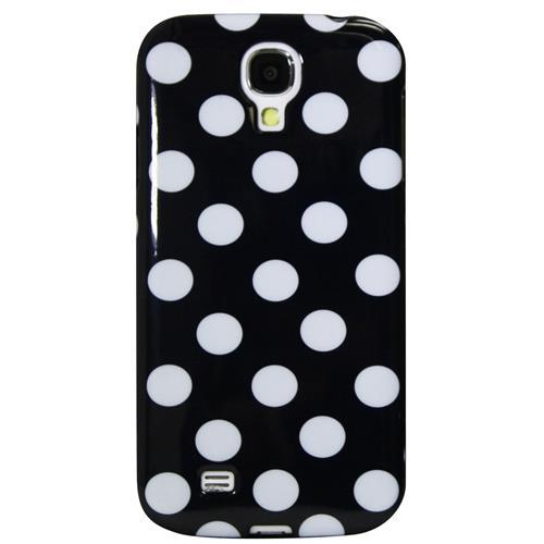 Exian Samsung Galaxy S4 TPU Case Polka Dots Black
