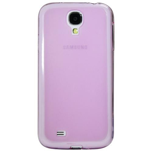 Exian Samsung Galaxy S4 TPU Case Frosted Transparent Purple