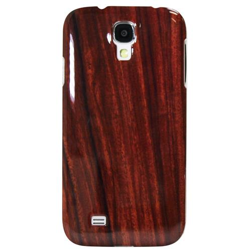 Exian Samsung Galaxy S4 Hard Plastic Case Exian Design Wood Pattern Brown