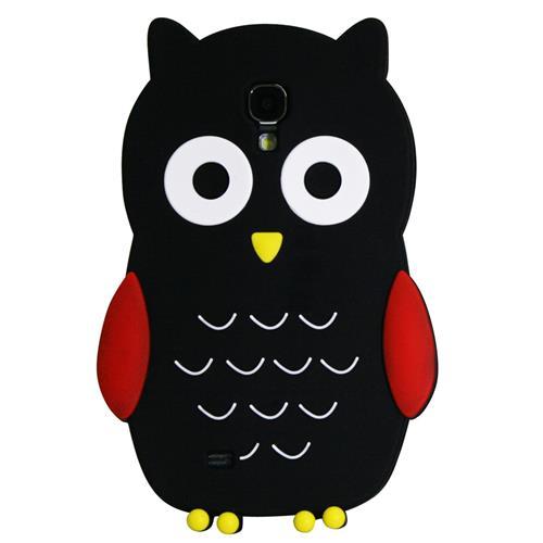 Exian Samsung Galaxy S4 Silicone Case Owl Black