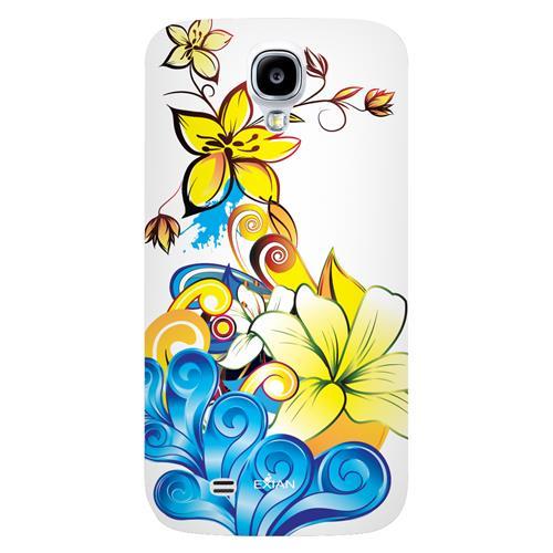 Exian Samsung Galaxy S4 TPU Case Exian Design CCS Floral Pattern