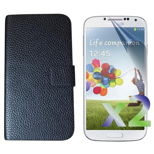Exian Samsung Galaxy S4 PU Leather Wallet Black
