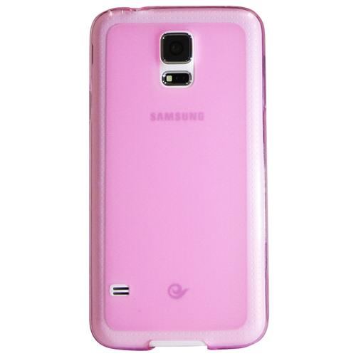 Exian Samsung Galaxy S5 TPU Case Frosted Transparent Purple