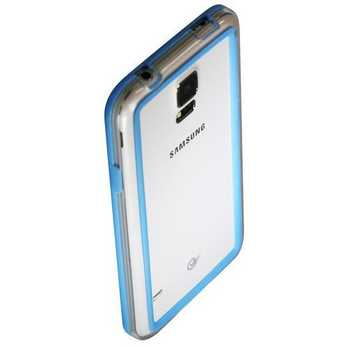 Exian Samsung Galaxy S5 Silicone Bumper Case Blue
