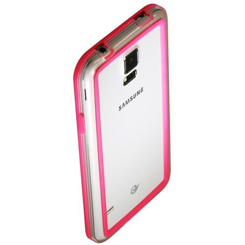 Exian Samsung Galaxy S5 Silicone Bumper Case Pink