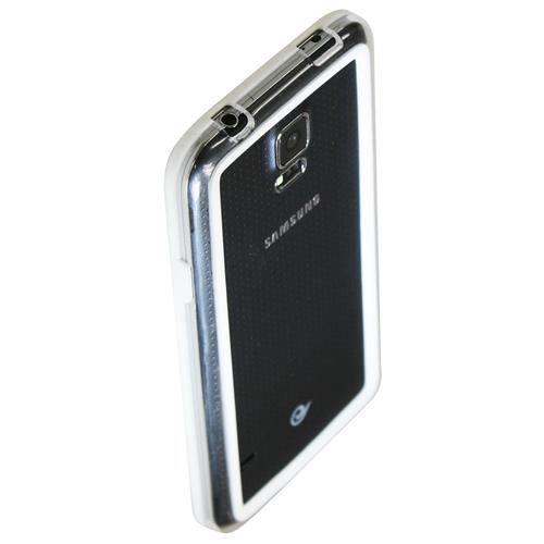 Exian Samsung Galaxy S5 Silicone Bumper Case White