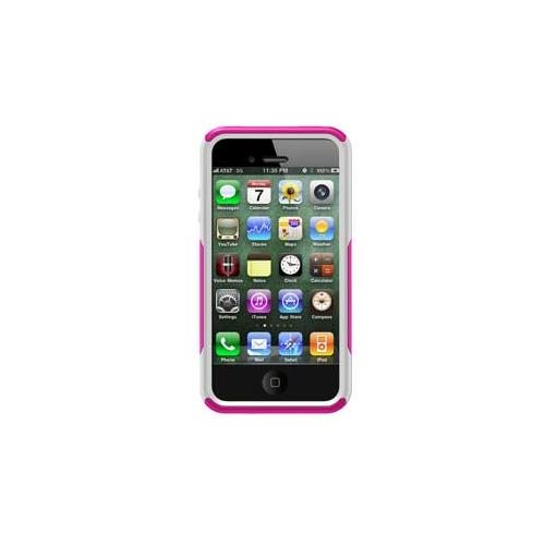 iPhone 4/4S Otterbox Commuter series case - pink plastic, white silicone