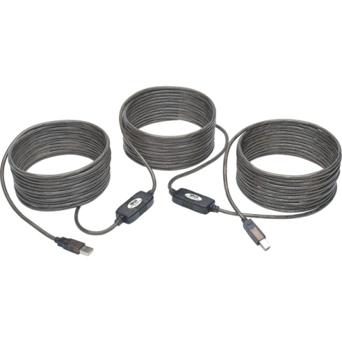 Tripp Lite USB 2.0 Hi-Speed A/B Active Repeater Cable (M/M), 50 ft