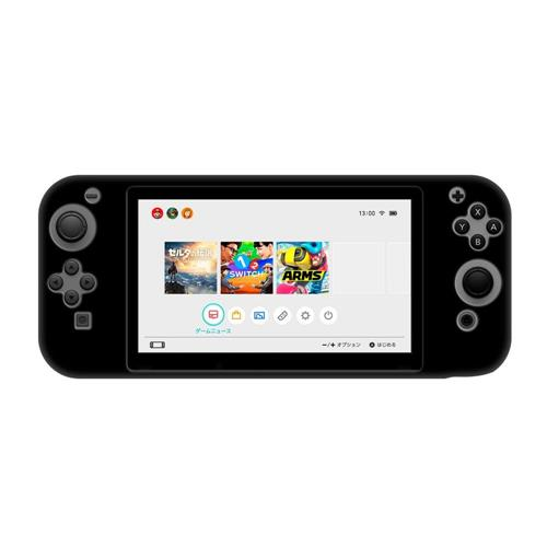 Insten Protective Silicone Skin Case Compatible with Nintendo Switch, Black