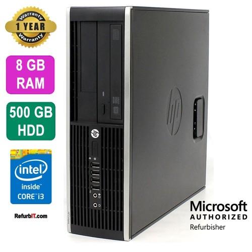 HP Compaq Pro 6300 Desktop, Intel Core i3, 8GB RAM, 500GB HDD, DVD-RW, Windows 10 Pro - Refurbished