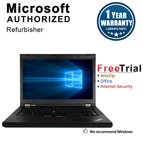 "Lenovo T430 14.1 "" Laptop Intel Core i5 2520M 2.5GHz,4G DDR3 RAM,320GB HDD, DVD,Windows 10 Pro 64, 1 Year Warranty - Refurb"