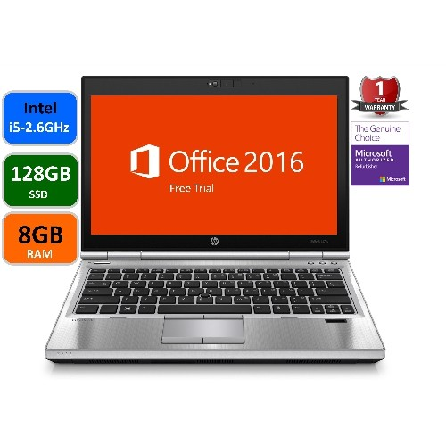 HP Elitebook 2570P, Intel i5-2.6 Ghz, 8GB Memory, 128GB SSD Drive, Windows 10 Pro , 1Year warranty , Refurbished
