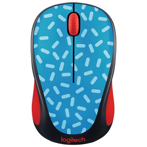 Logitech Doodle M317 Wireless Optical Mouse - Memphis Blue
