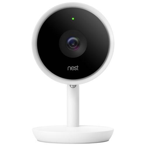 Google Nest Cam Iq Wi Fi Indoor 1080p Ip Camera White Best Buy Canada
