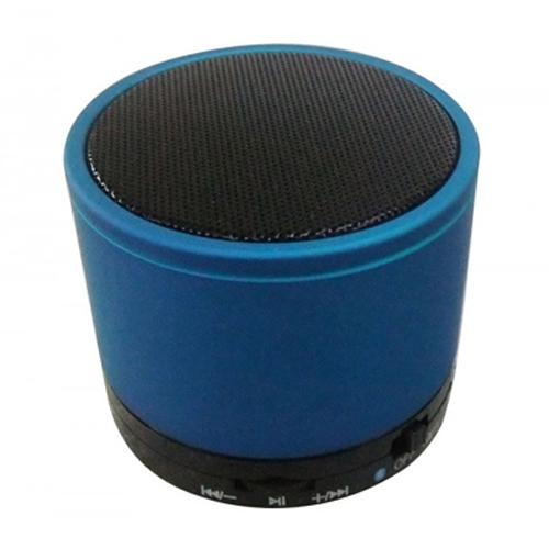 GlobalTone Mini Haut-Parleur Bluetooth Portable avec Bass Xpansion System (BXS) Lecture MP3 et port Micro SD Bleu