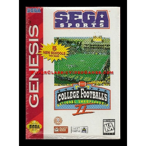 College Football National Championship II 2 (Sega Genesis)